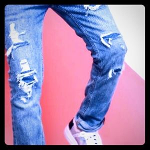 Boys Abercrombie Ripped Look Skinny Jean 13/14